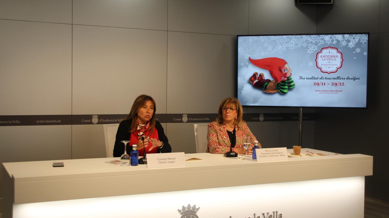 Conxita Marsol i Mònica Codina durant la presentació. / A.S.
