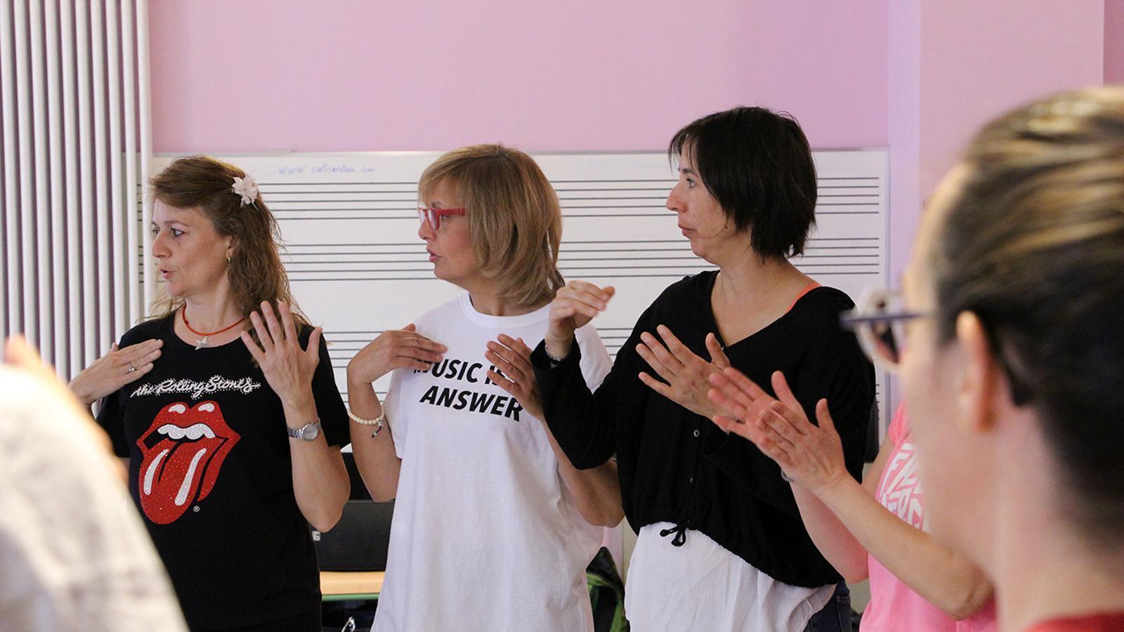 Un instant del taller de percussió corporal. / M. M. (ANA)