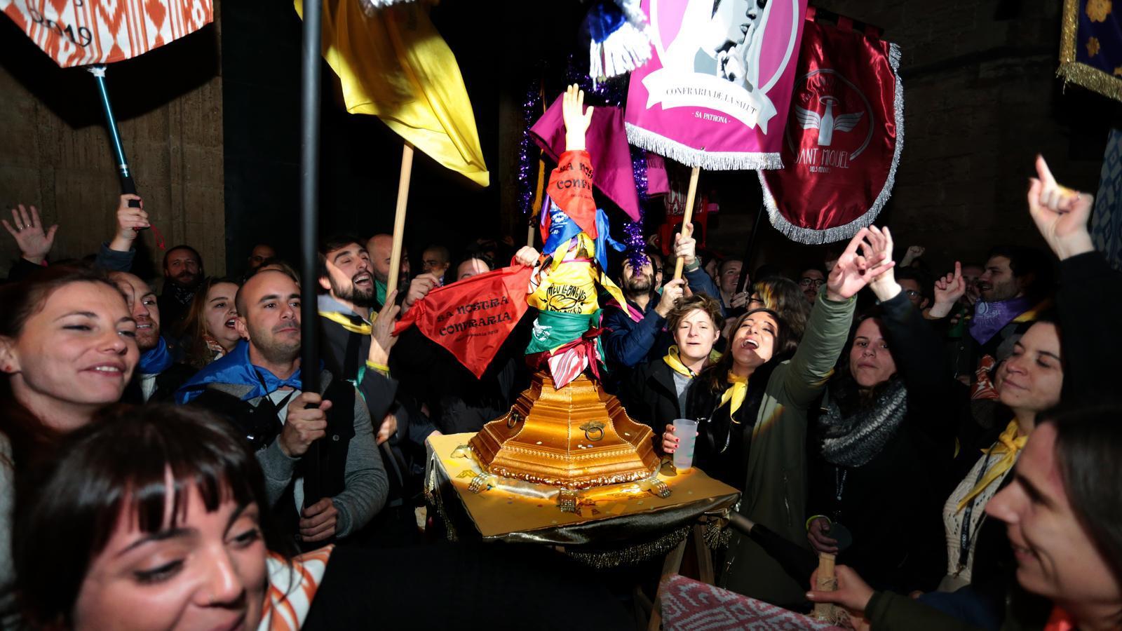 El piròman de Palma dona el sus al Sant Sebastià popular