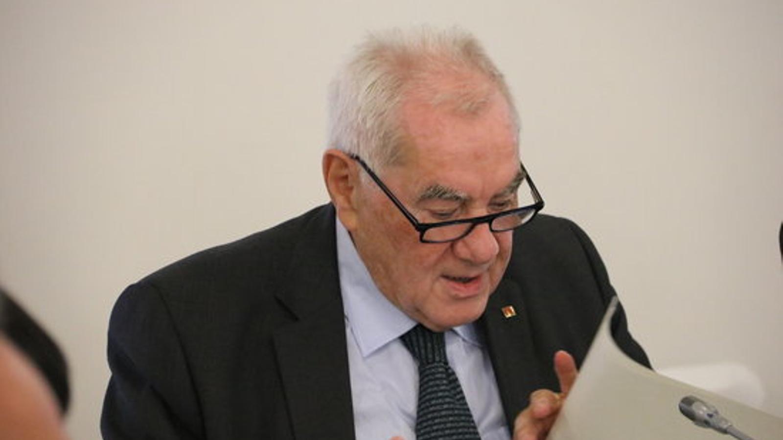 El conseller d'Acció Exterior, Relacions Institucionals i Transparència, Ernest Maragall, en una imatge d'arxiu