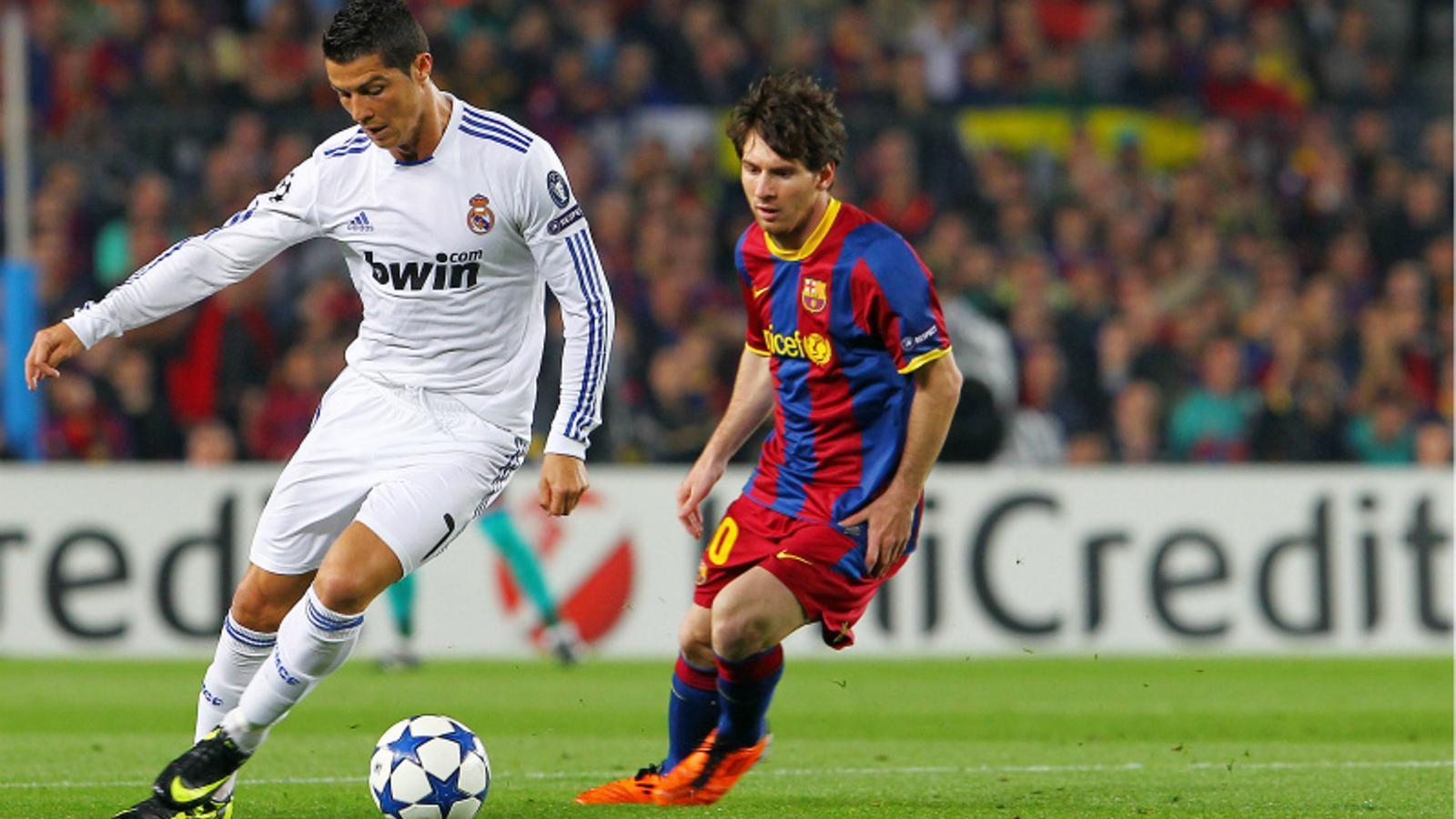 Messi i Cristiano, en un dels partits de la temporada passada