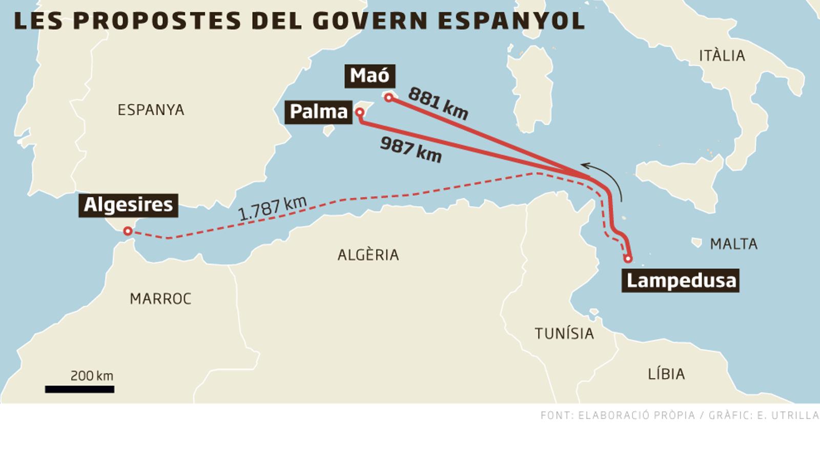 """El govern de Pedro Sánchez proposa ara """"el port espanyol més proper"""" per desembarcar l''Open Arms'"""