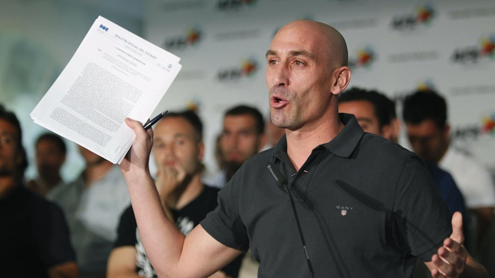 Luis Rubiales, president de l'Associació de Futbolistes (AFE) / VÍCTOR LERENA / EFE