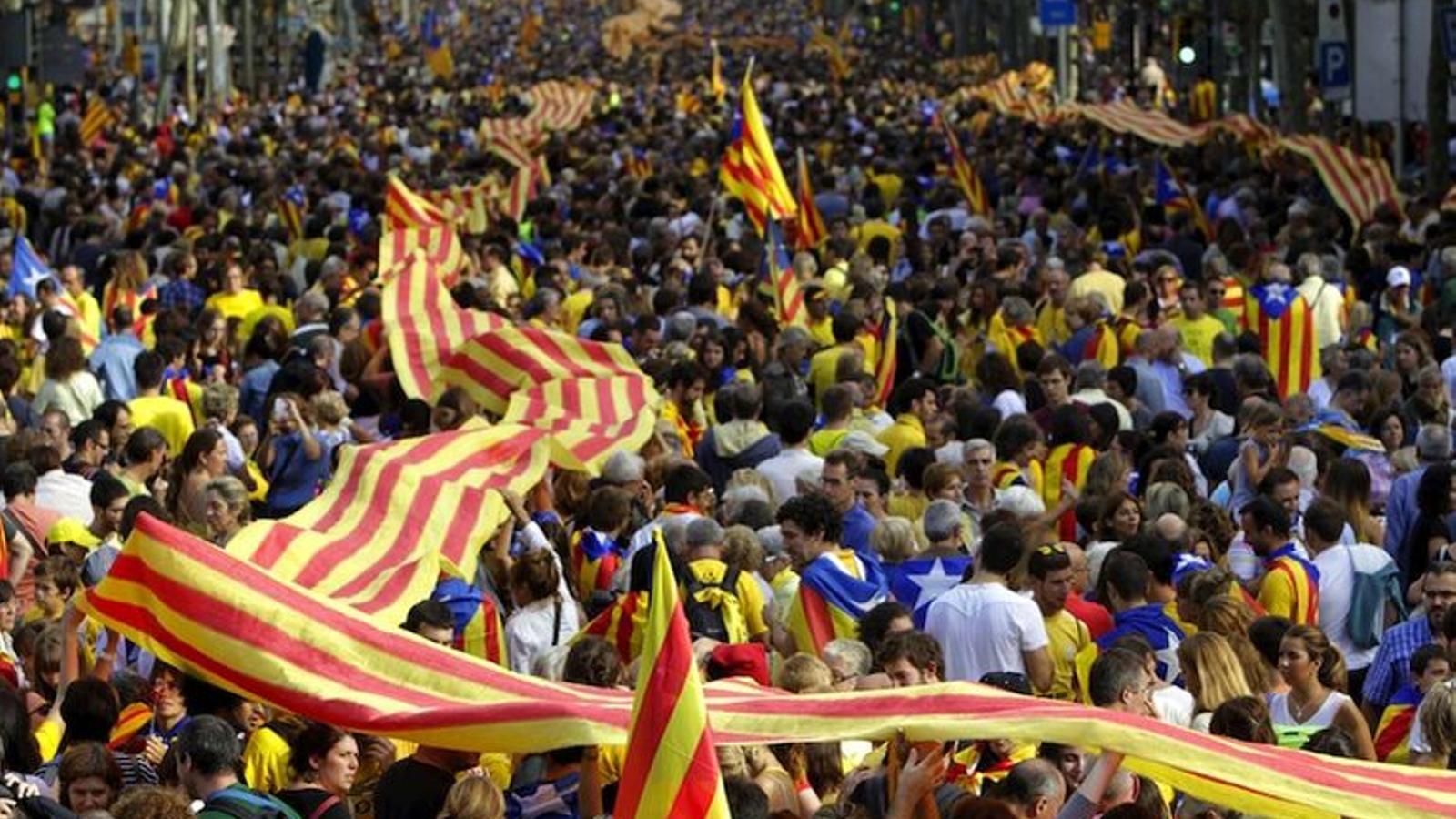 L'ANC i Òmnium impulsen cinc marxes des de diferents punts de Catalunya per respondre a la sentència de l'1-O