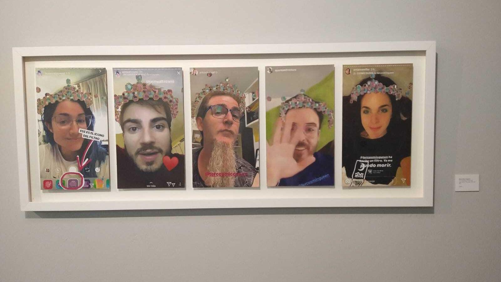 Una de les obres de l'exposició.