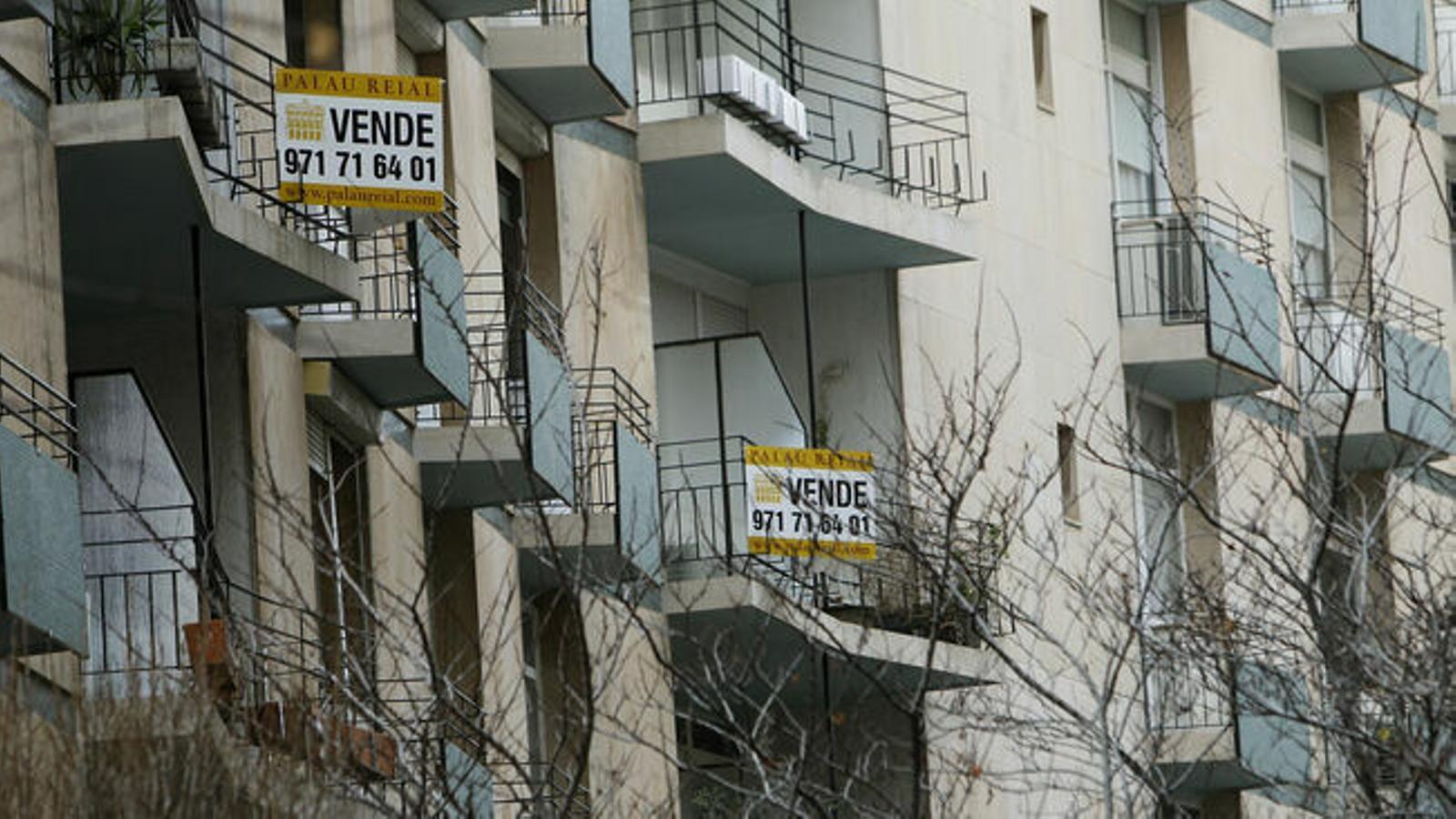 La firma de noves hipoteques s'ha reduït un 14,9% a les Balears en un any