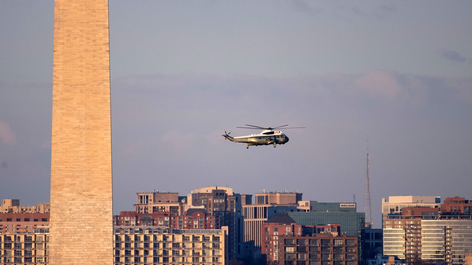 Helicòpter de camí a la Casa Blanca