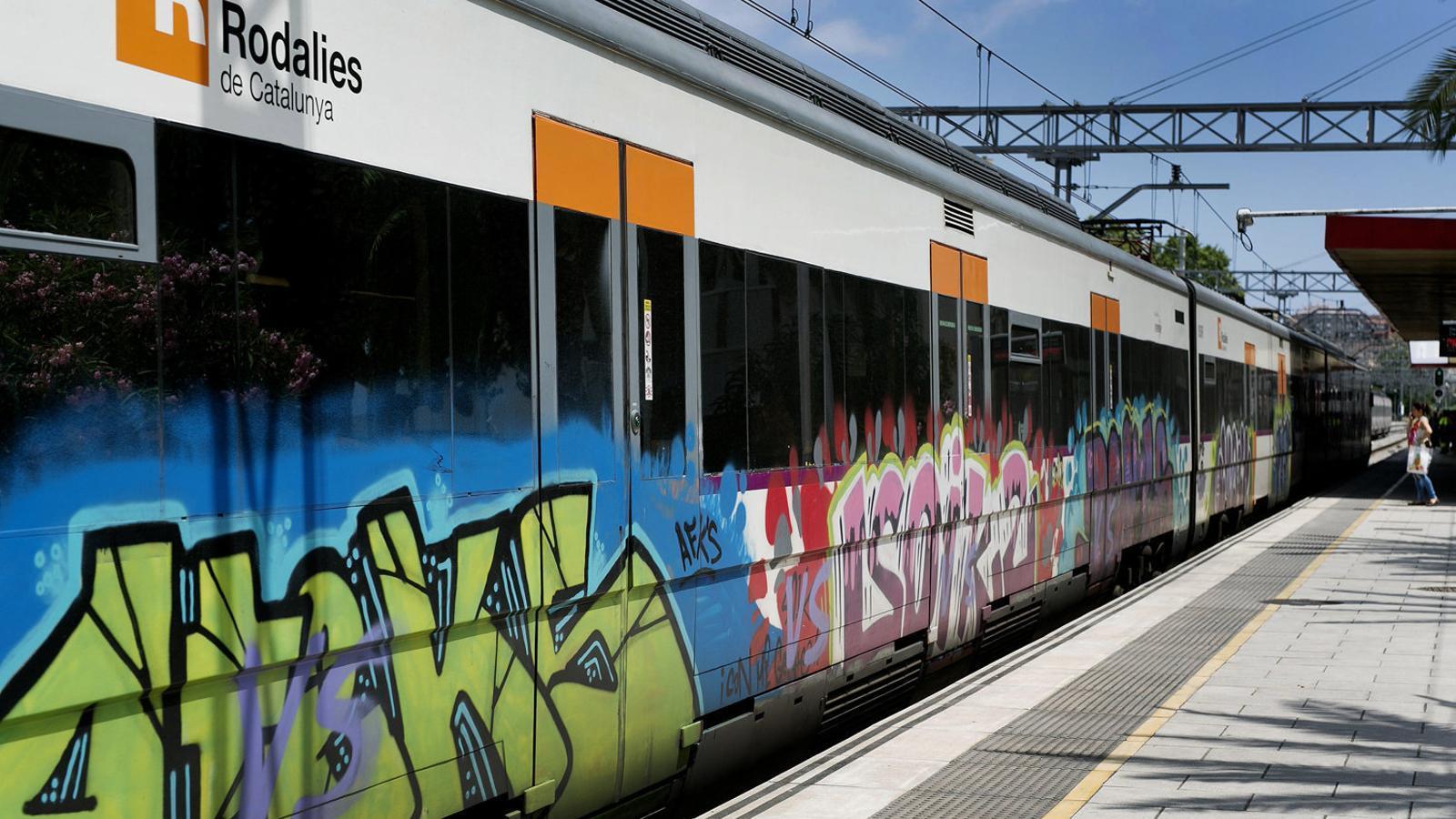 Grafiters més violents als trens