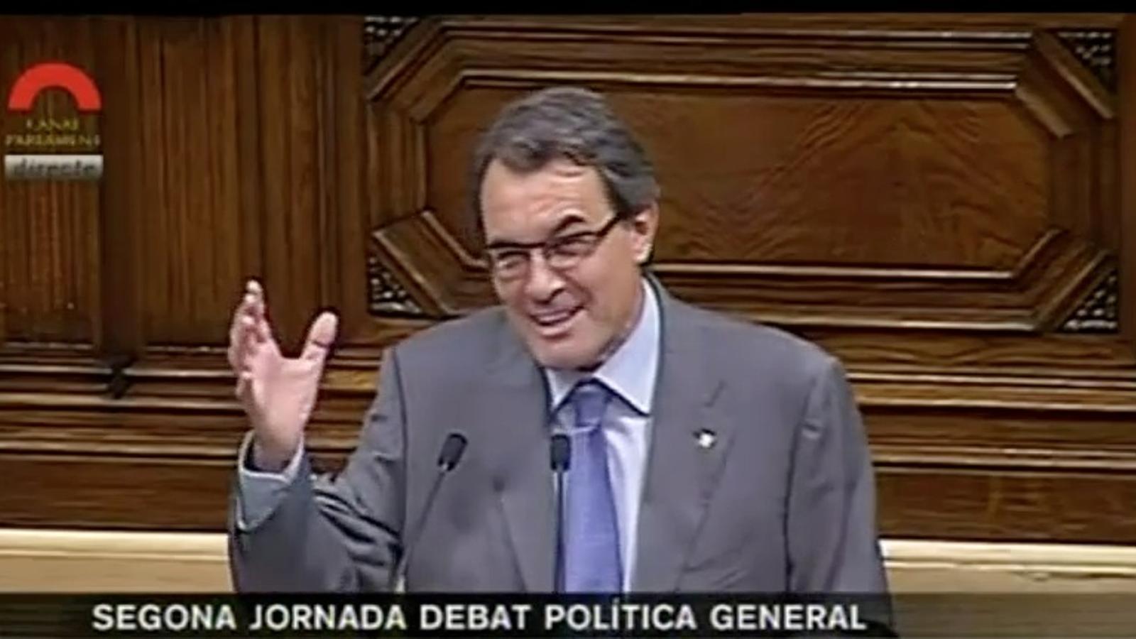 Mas, en el debat de política general: els nens andalusos parlen el castellà, però a vegades no se'ls entén