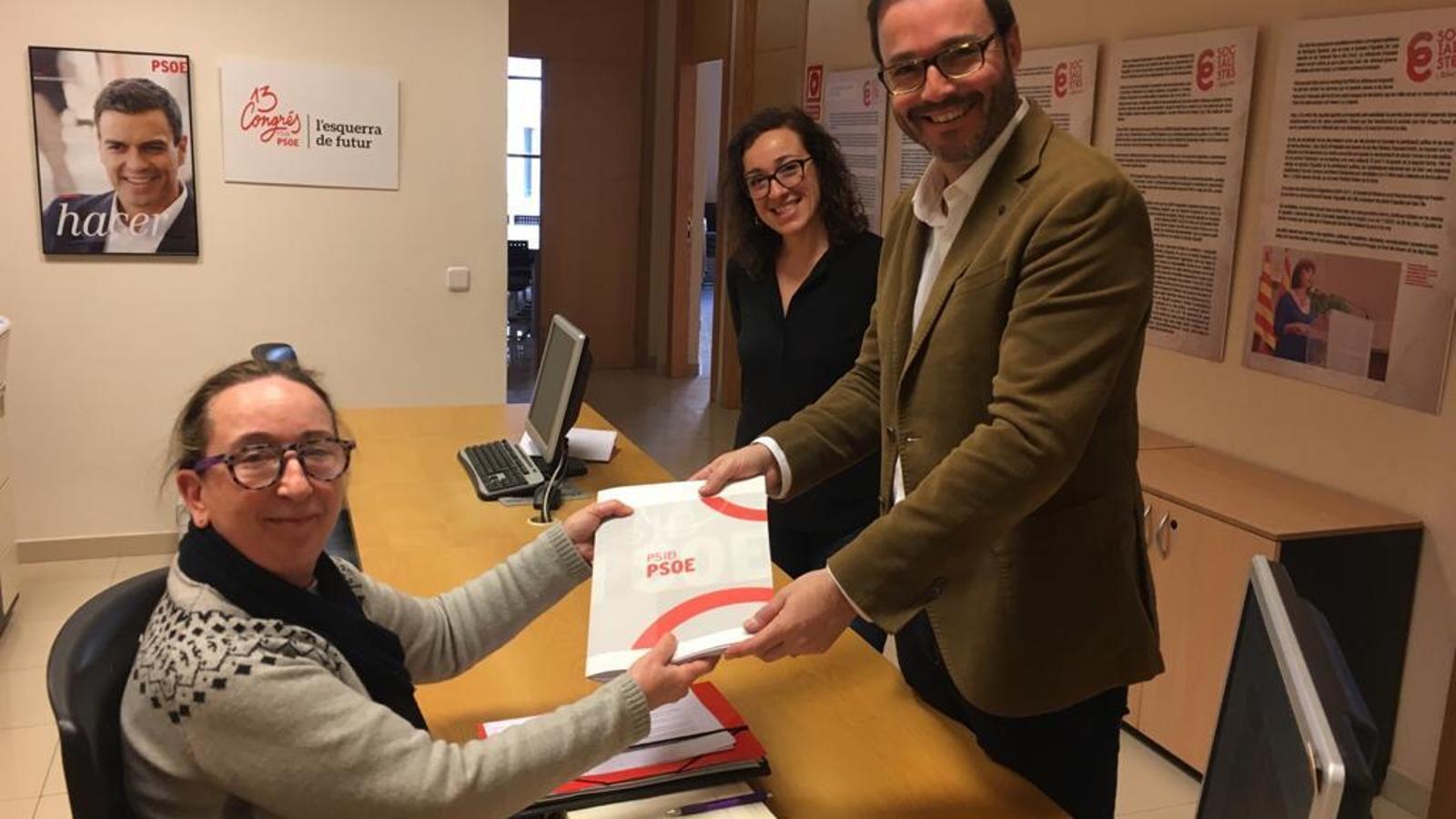 Hila presenta els seus avals per a ser designat candidat del PSIB a la batlia de Palma