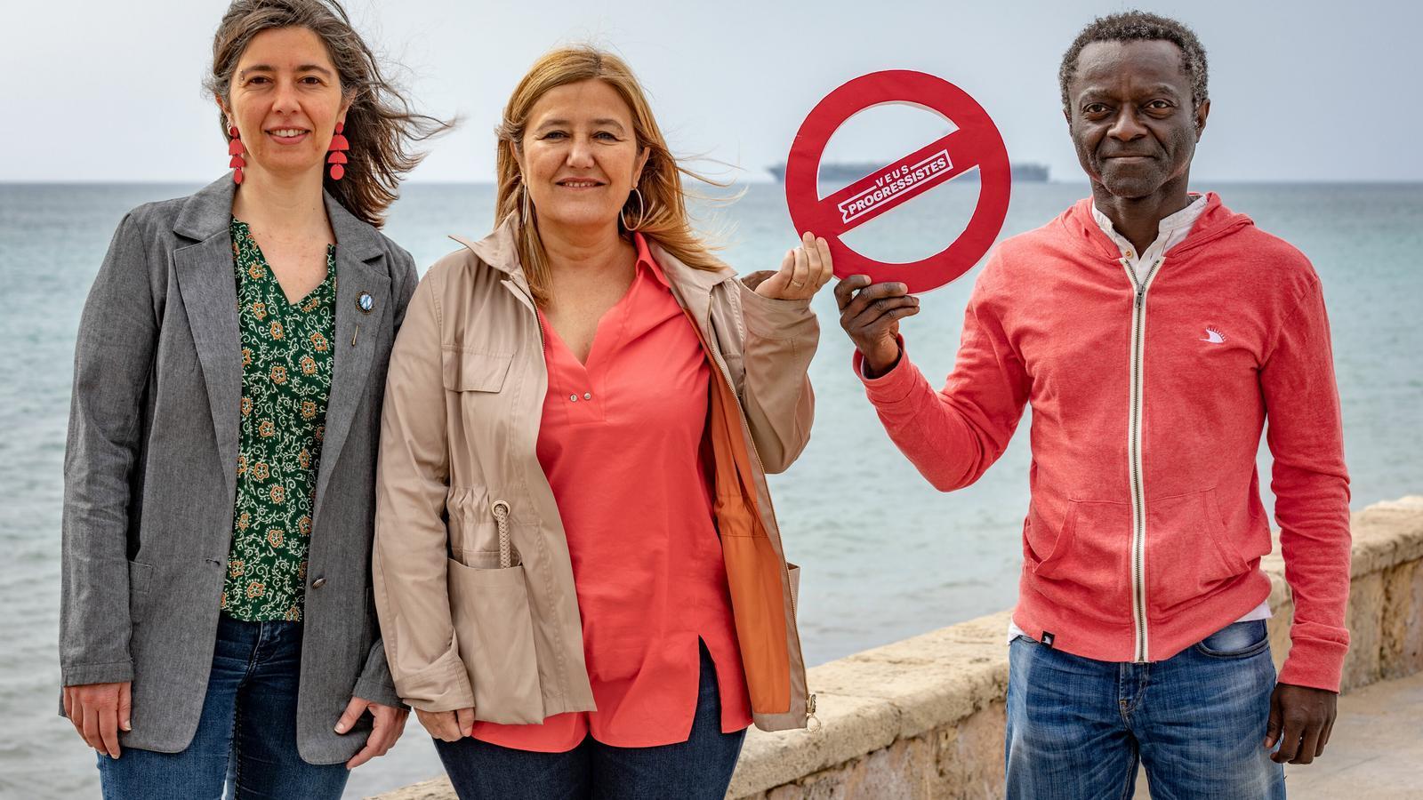 Neus Truyol, Rosa Cursach i Guillem Balboa.