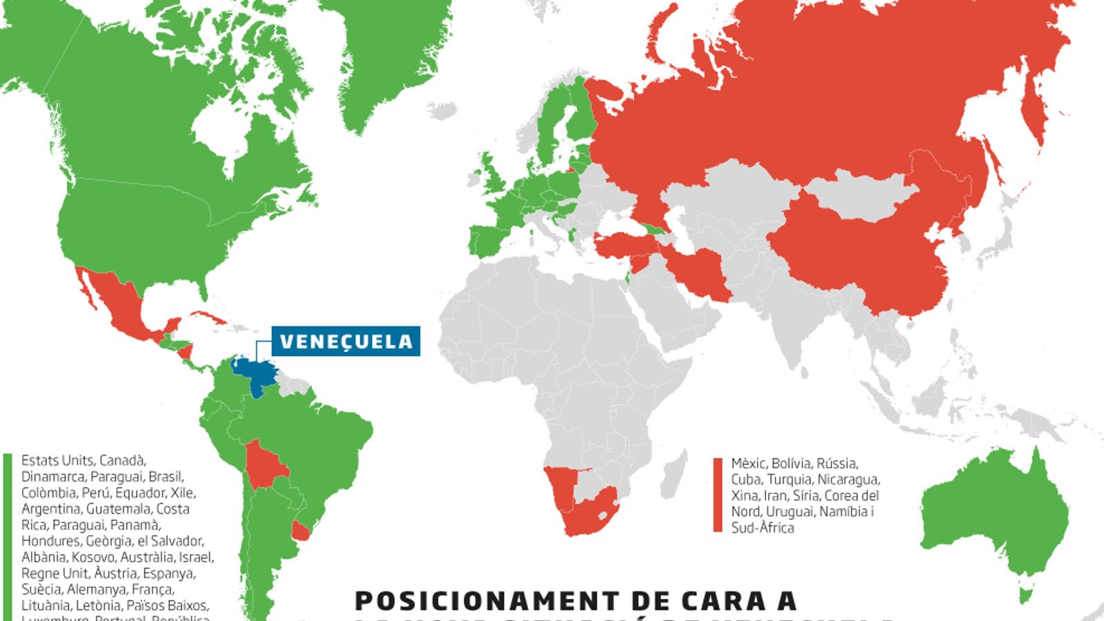 La majoria de països de la UE reconeixen Guaidó però no hi ha consens a tot el bloc