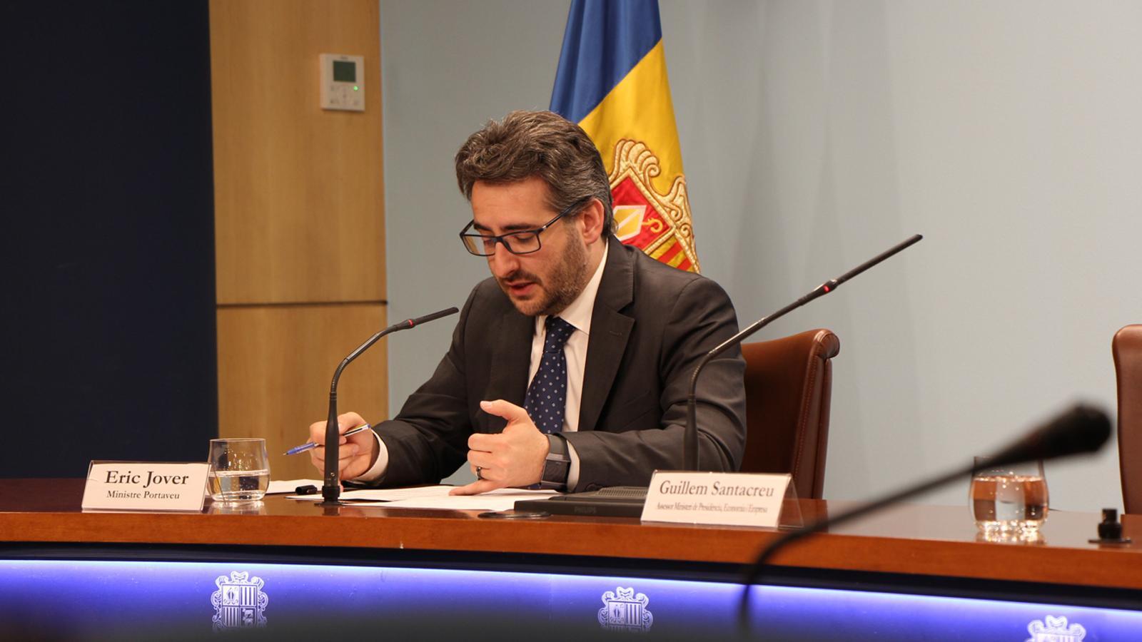 El ministre portaveu, Eric Jover. / M. P. (ANA)