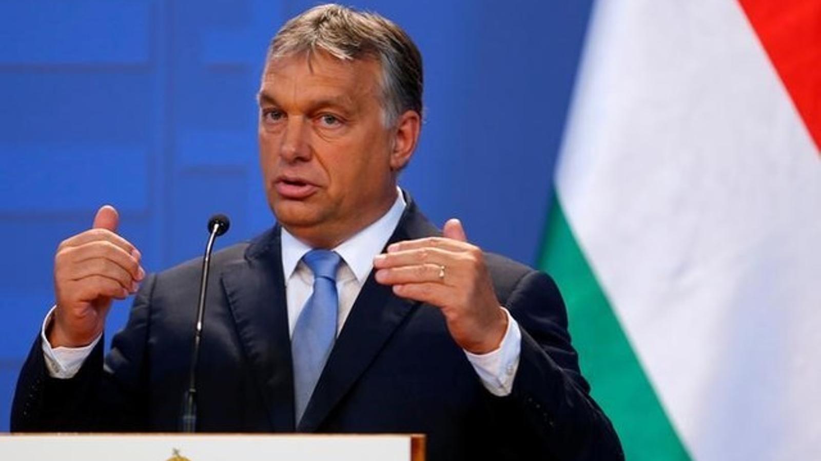 Orbán, en una roda de premsa a Viena. / LAZSLO BALOGH / REUTERS