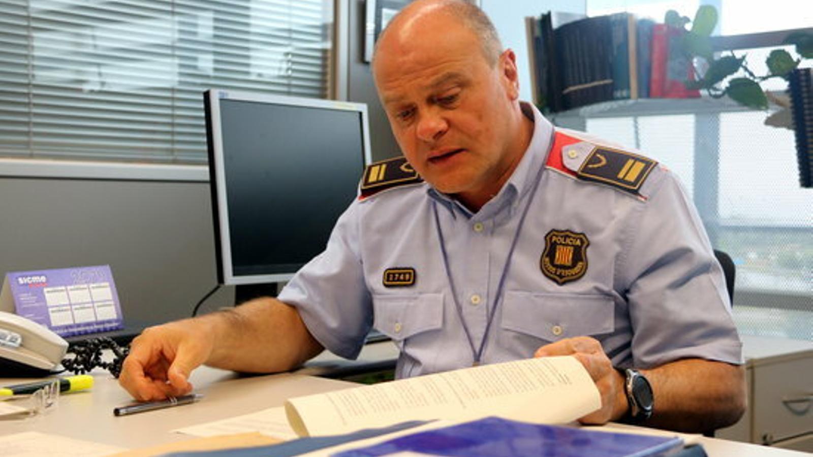 L'intendent Vicenç Gasulla, sotscap de la Comissaria general de mobilitat dels Mossos d'Esquadra. / ACN-MIQUEL CODOLAR