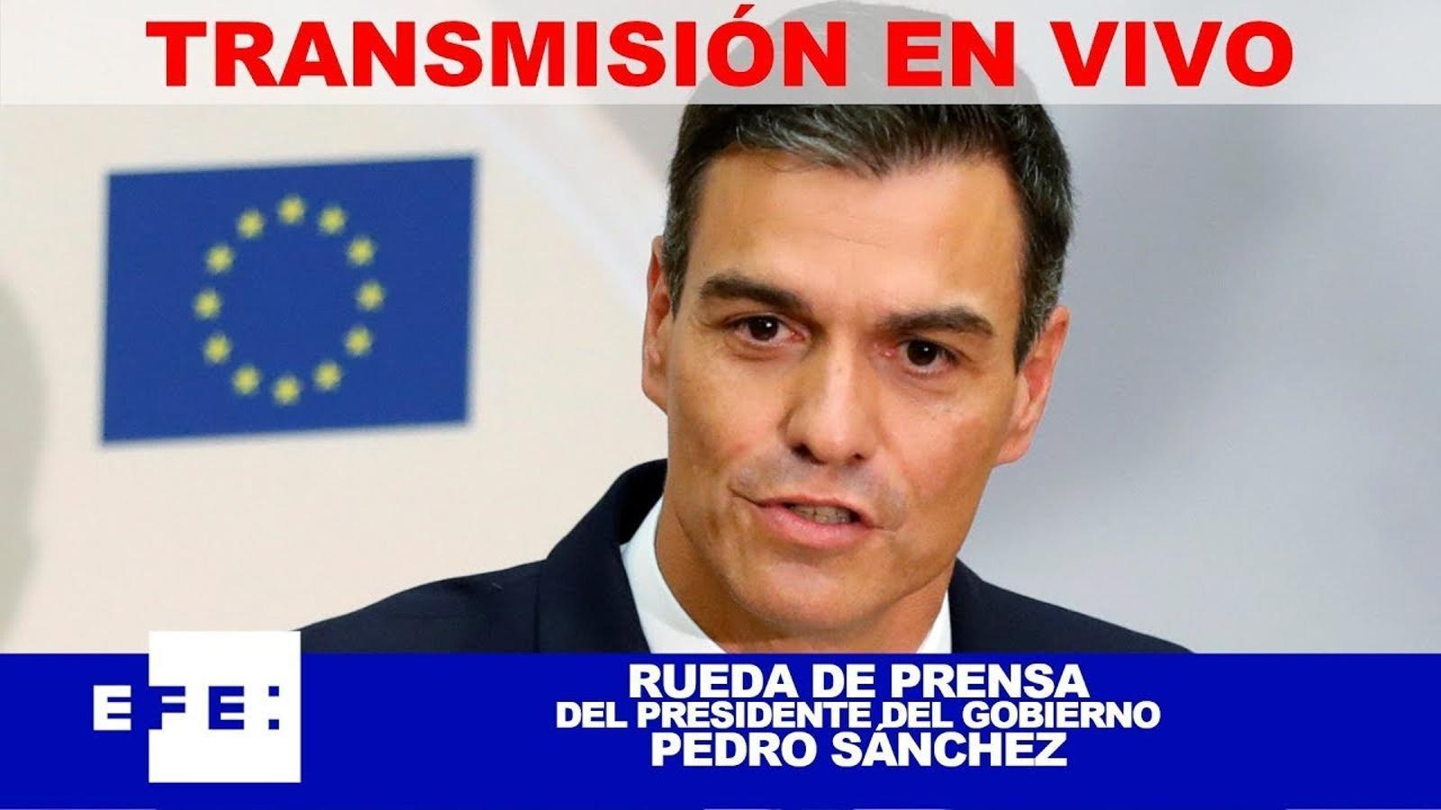 Roda de premsa de Sánchez a la Moncloa per anunciar canvis en les hipoteques