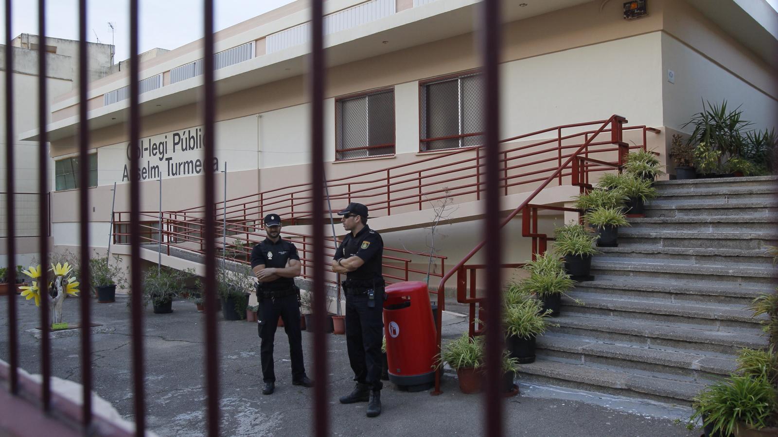 Escola pública Anselm Turmeda, on va tenir lloc l'agressió. / ISAAC BUJ