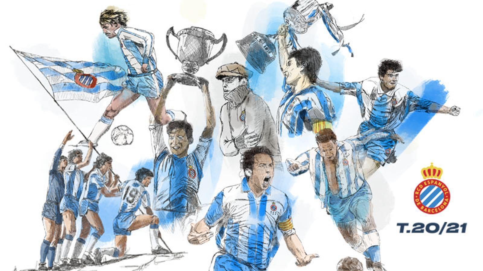 Els carnets d'abonaments 2020-21 de l'Espanyol inclouran imatges dels 120 anys d'història del club