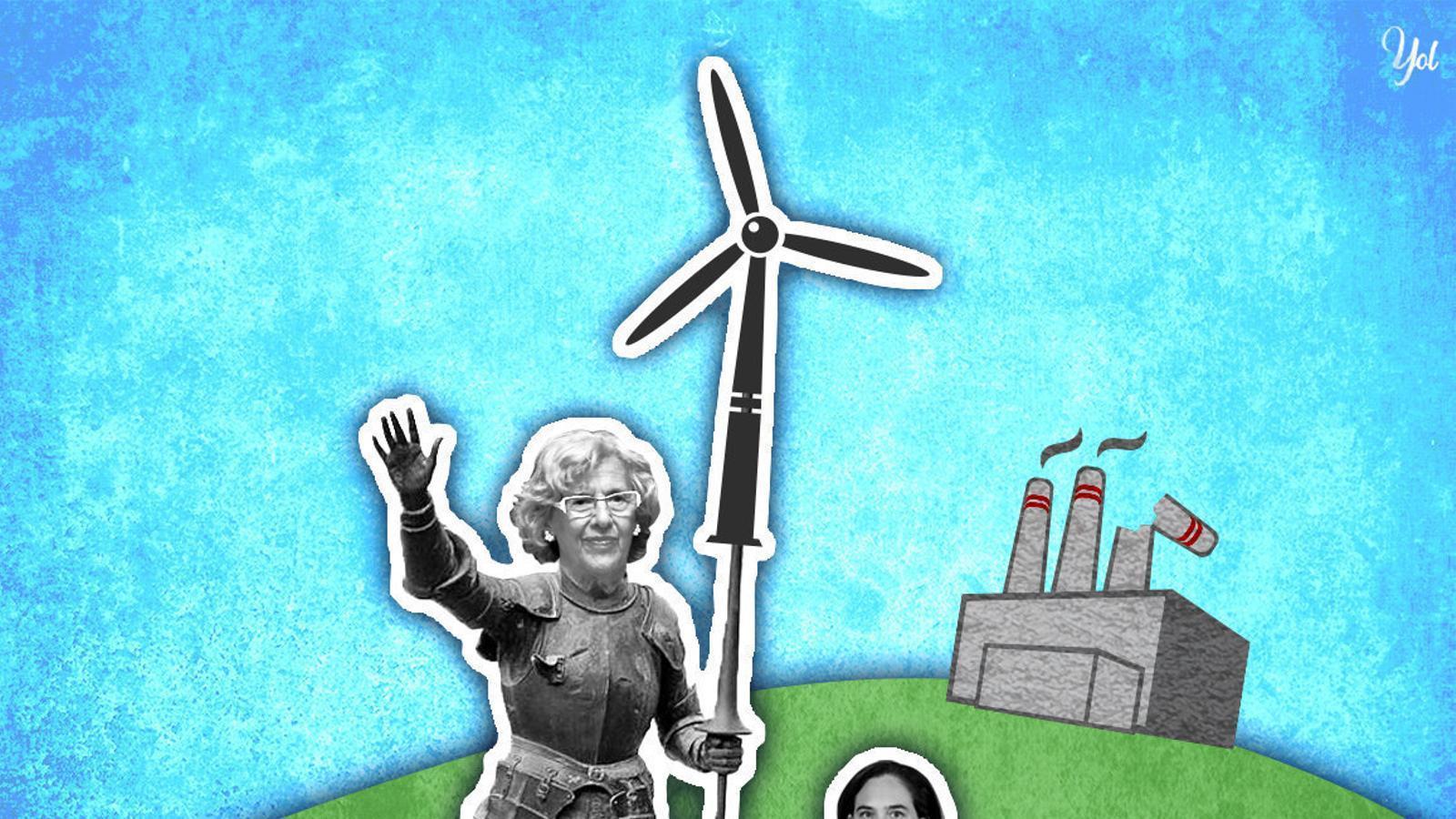 Carmena i Colau, dues maneres de vetar les grans elèctriques