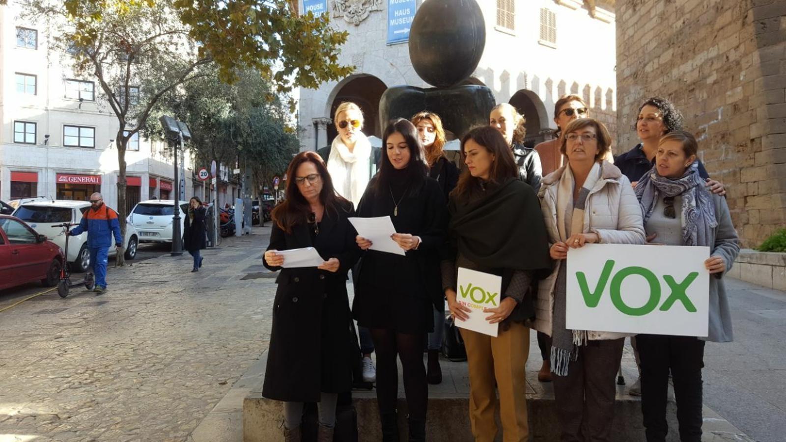 Vox boicoteja la declaració contra la violència masclista del Parlament