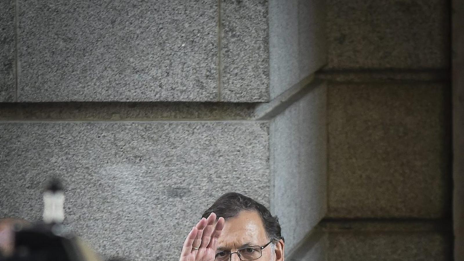 El president espanyol, Mariano Rajoy, al Congrés de Diputats després del debat d'investidura.