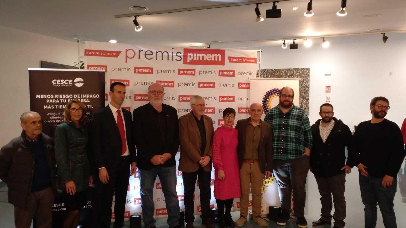 Guanyadors dels premis PIMEM.