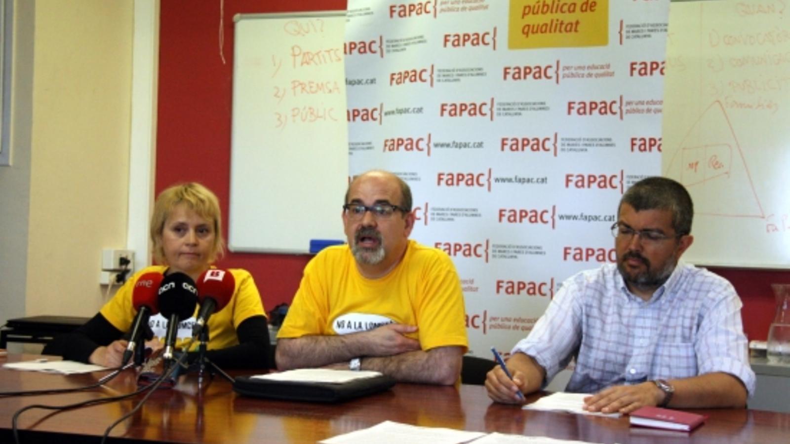 La fapac reitera el suport a les fam lies insubmises a les for Escoles de disseny d interiors a barcelona