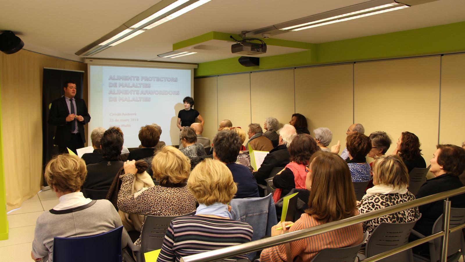 Un taller anterior a L'espai de la Fundació Crèdit Andorrà