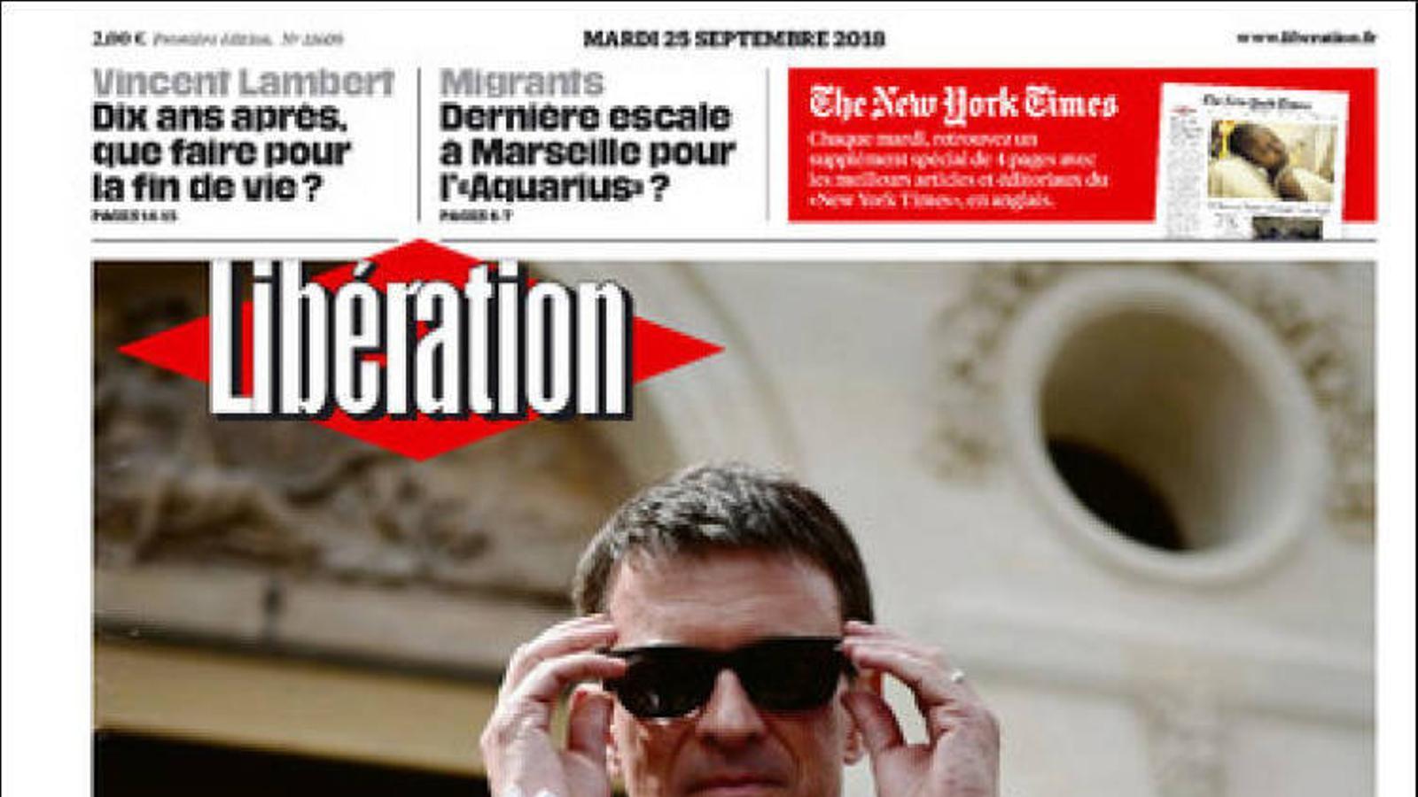 Portada 'Libération', 25/09/2018
