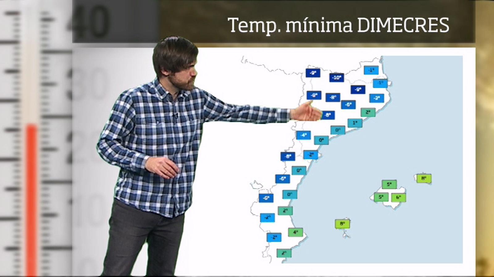 La méteo en 1 minut: matinades sota zero gairebé arreu