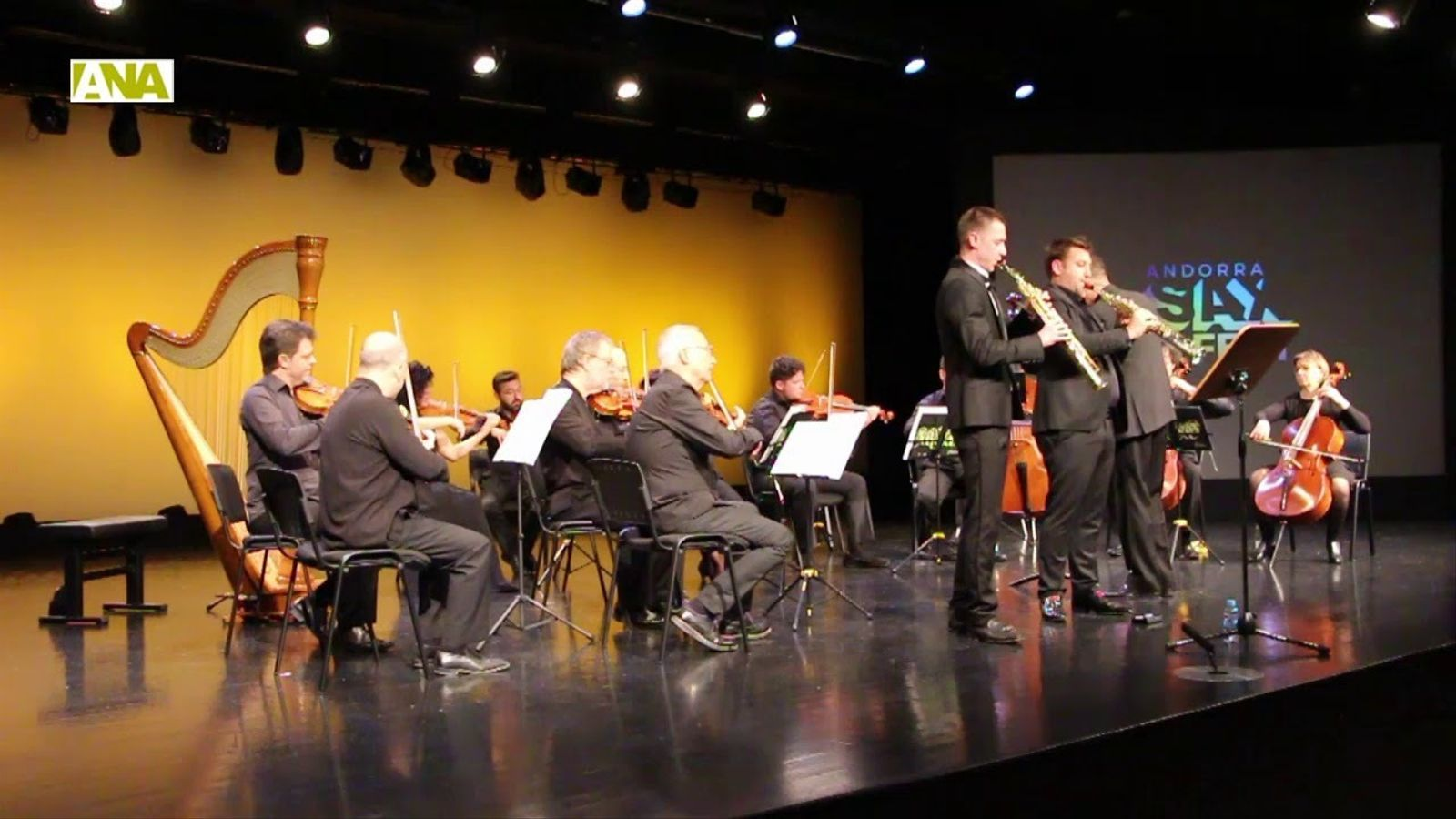 Actuació de l'ONCA a l'Andorra Sax Fest