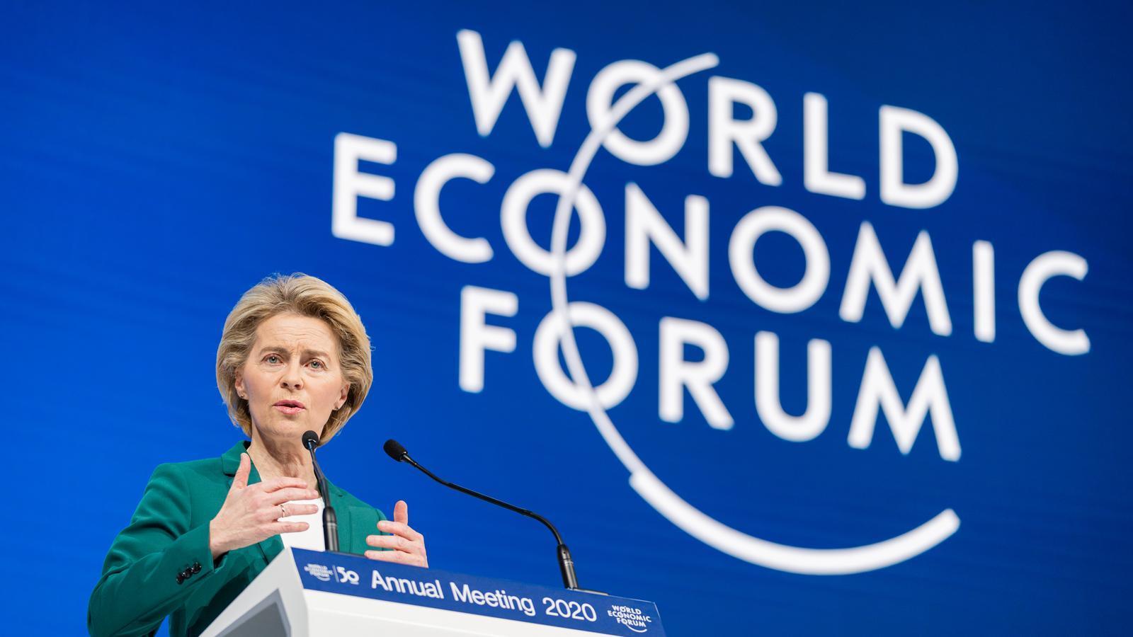 La presidenta de la Comissió Europea, Ursula Von der Leyen, al Fòrum Econòmic de Davos.