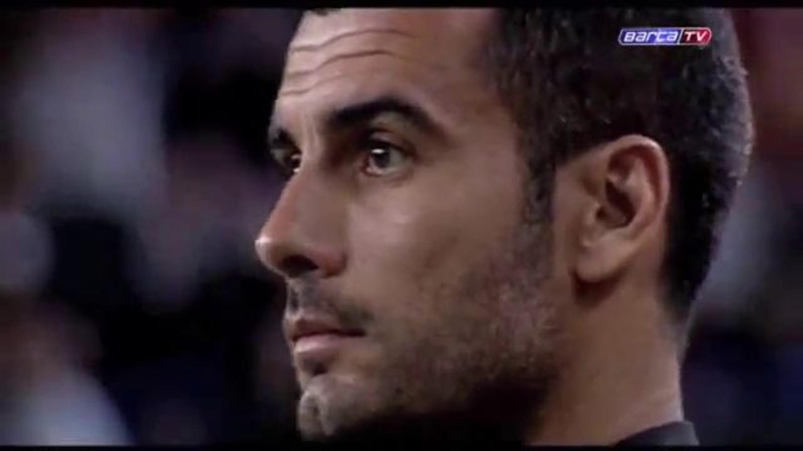 El Camp Nou ret homenatge a Pep Guardiola