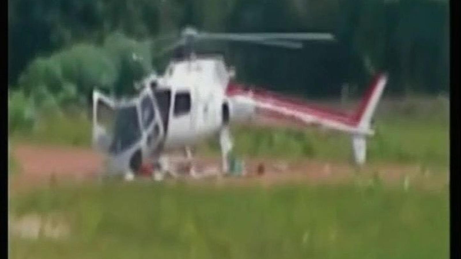 Un helicòpter brasiler es trenca a trossos en aterrar