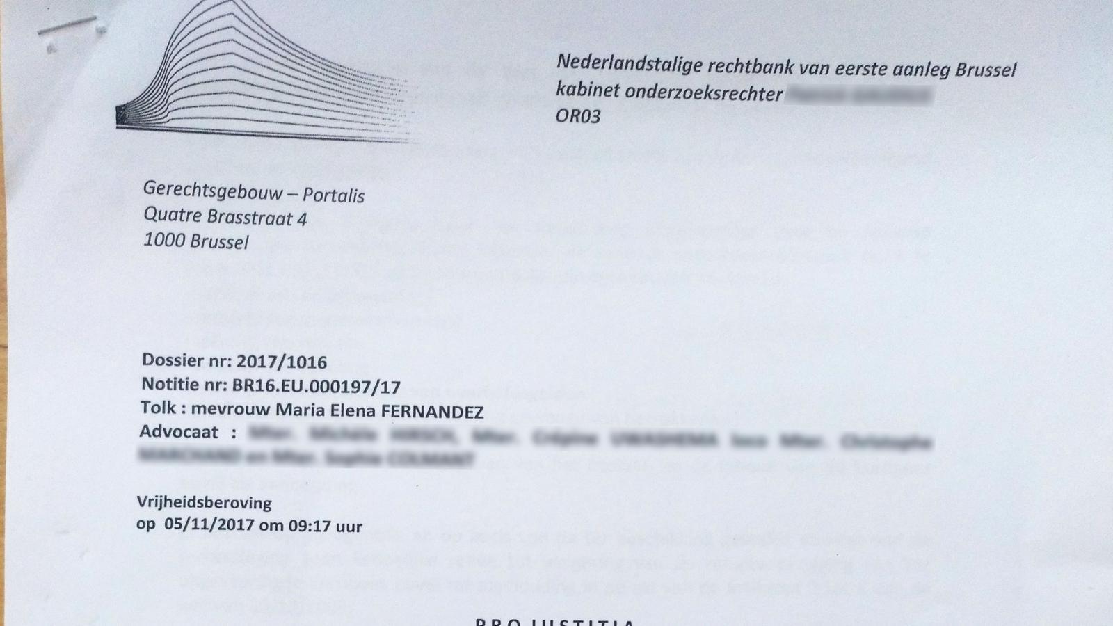 Interlocutòria del jutge belga que deixa en llibertat Meritxell Serret