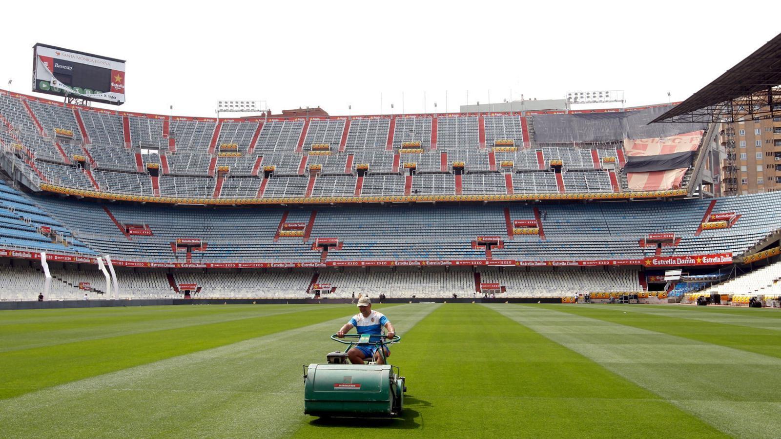 L'estadi de Mestalla de València, en una imatge d'arxiu.