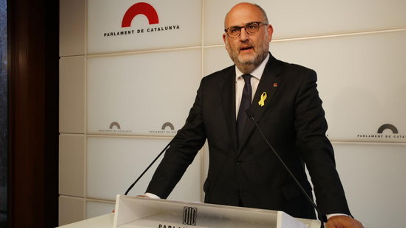 El portaveu de JxCat al Parlament, Eduard Pujol, en una imatge d'arxiu