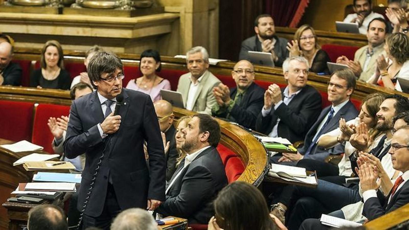 Sessió de control al president de la Generalitat, Carles Puigdemont, al Parlament