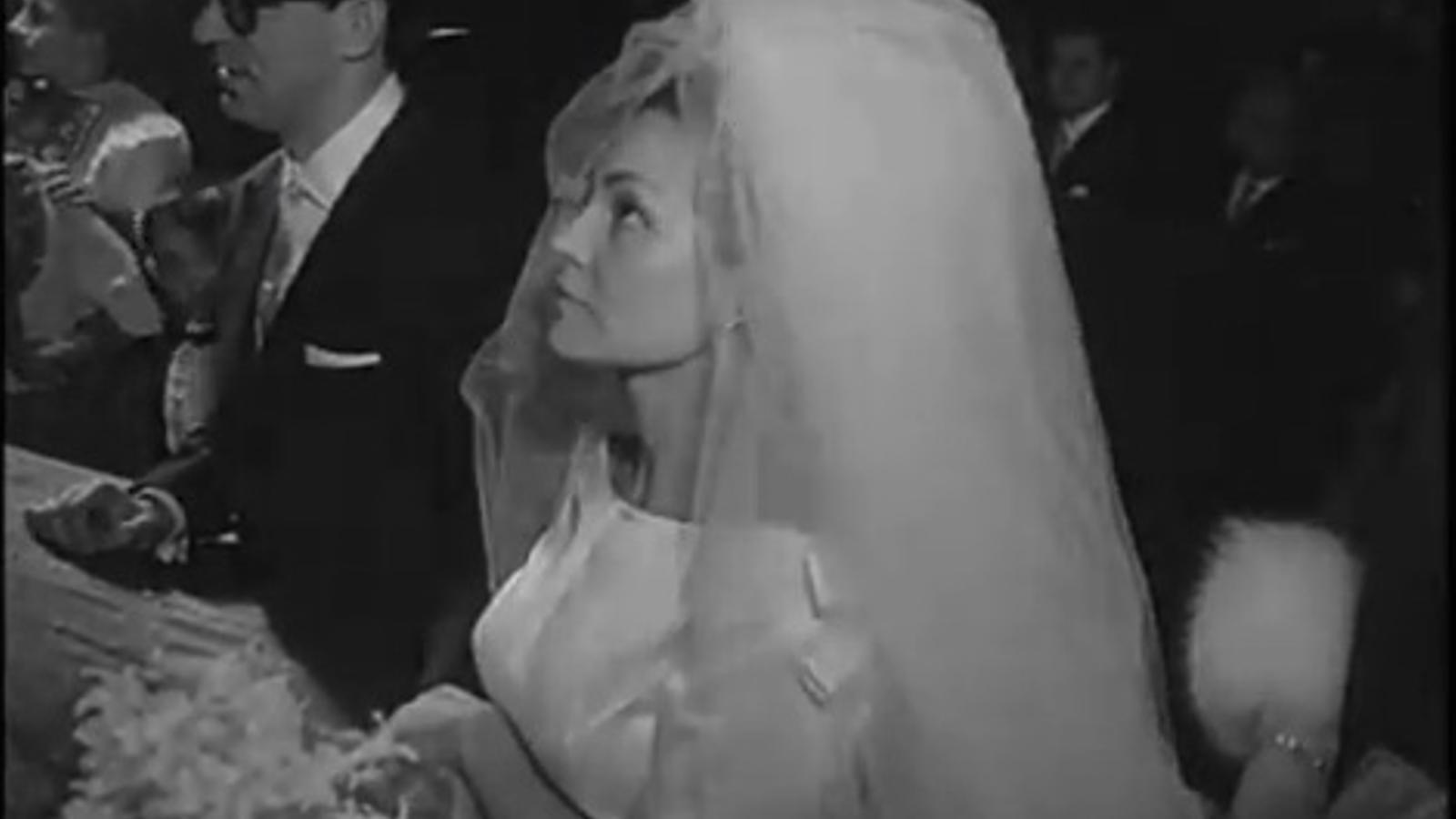 Imatges del No-Do del casament entre Augusto Algueró i Carmen Sevilla