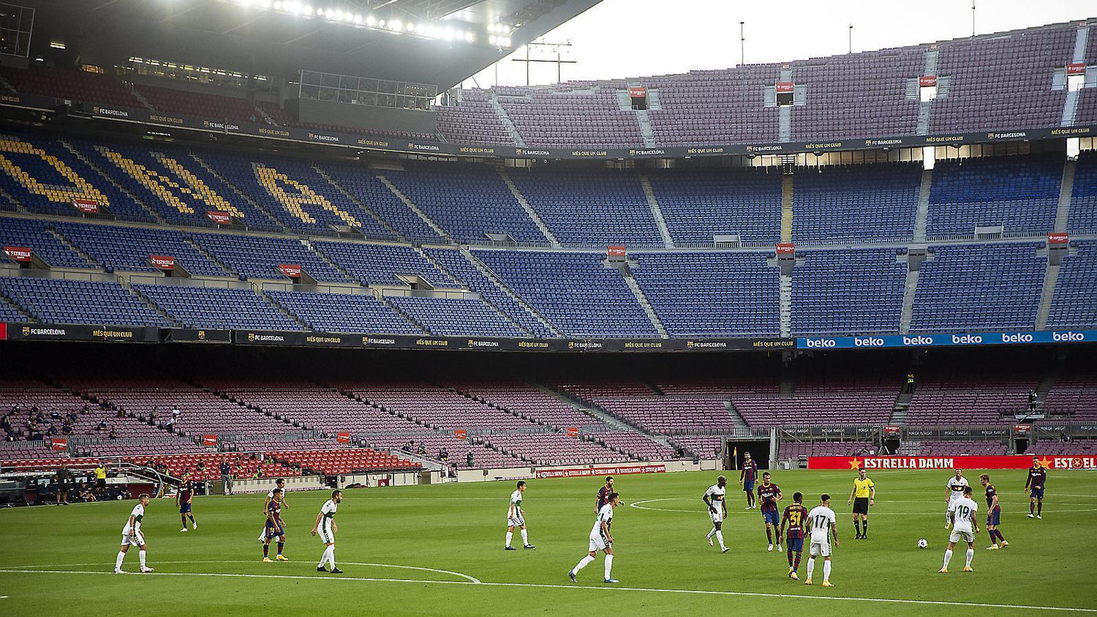 El Barça va jugar el trofeu Joan Gamper a porta tancada contra l'Elx.