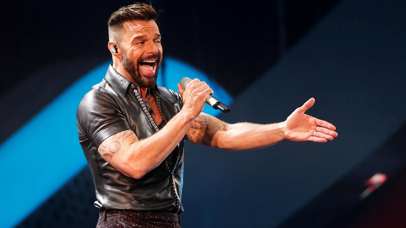 Ricky Martin durant la seva actuació a Viña del Mar, Xile