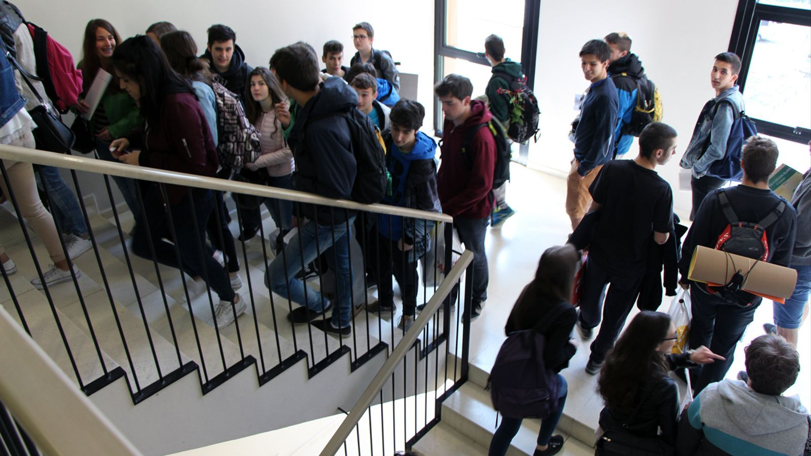 Alumnes de batxillerat. / ARXIU
