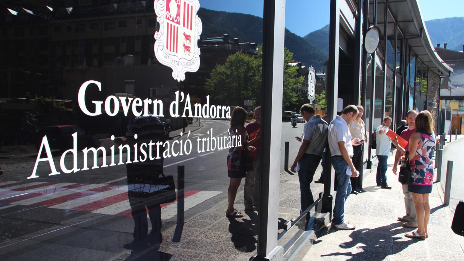 Façana de l'Administració Tributària d'Andorra./Arxiu ARA