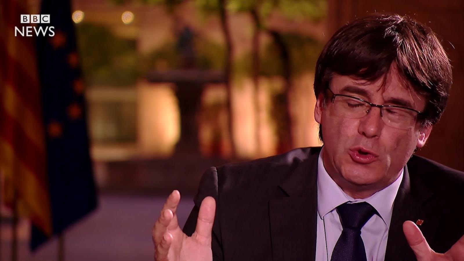 Entrevista de la BBC a Carles Puigdemont, el passat 3 d'octubre de 2017