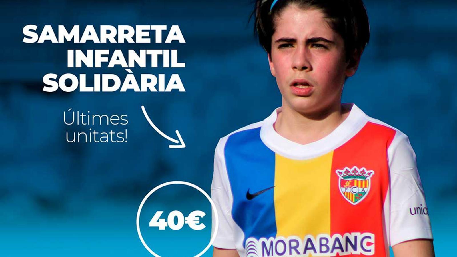 Cartell de la samarreta infantil solidària. / FC ANDORRA