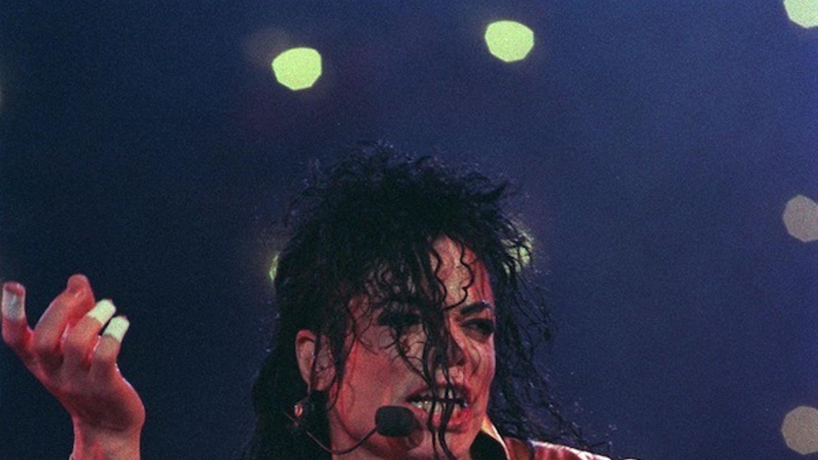 Michael Jackson en un concert al 1996