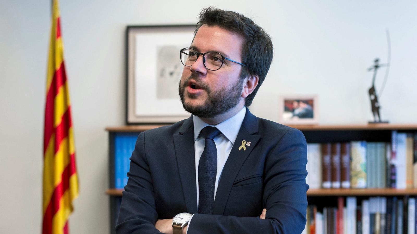 El conseller i vicepresident del Govern, Pere Aragonès, durant l'entrevista  a l'agència Efe.