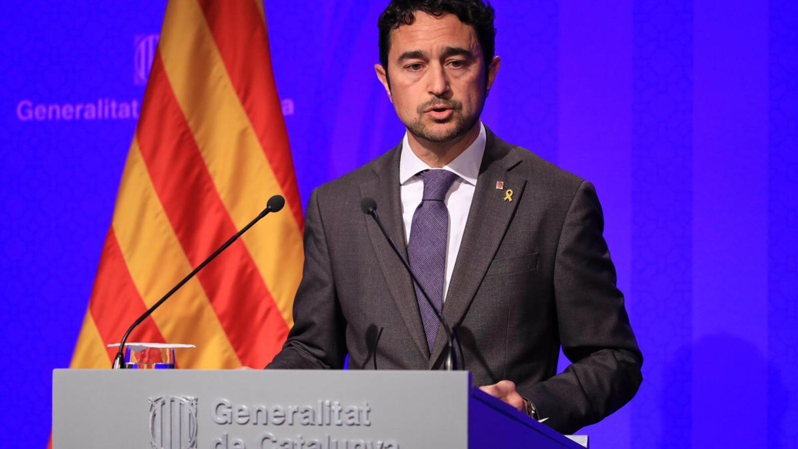 """El Govern, sobre l'informe d'Amnistia: """"Em faria vergonya estar en la pell del sistema judicial espanyol"""""""