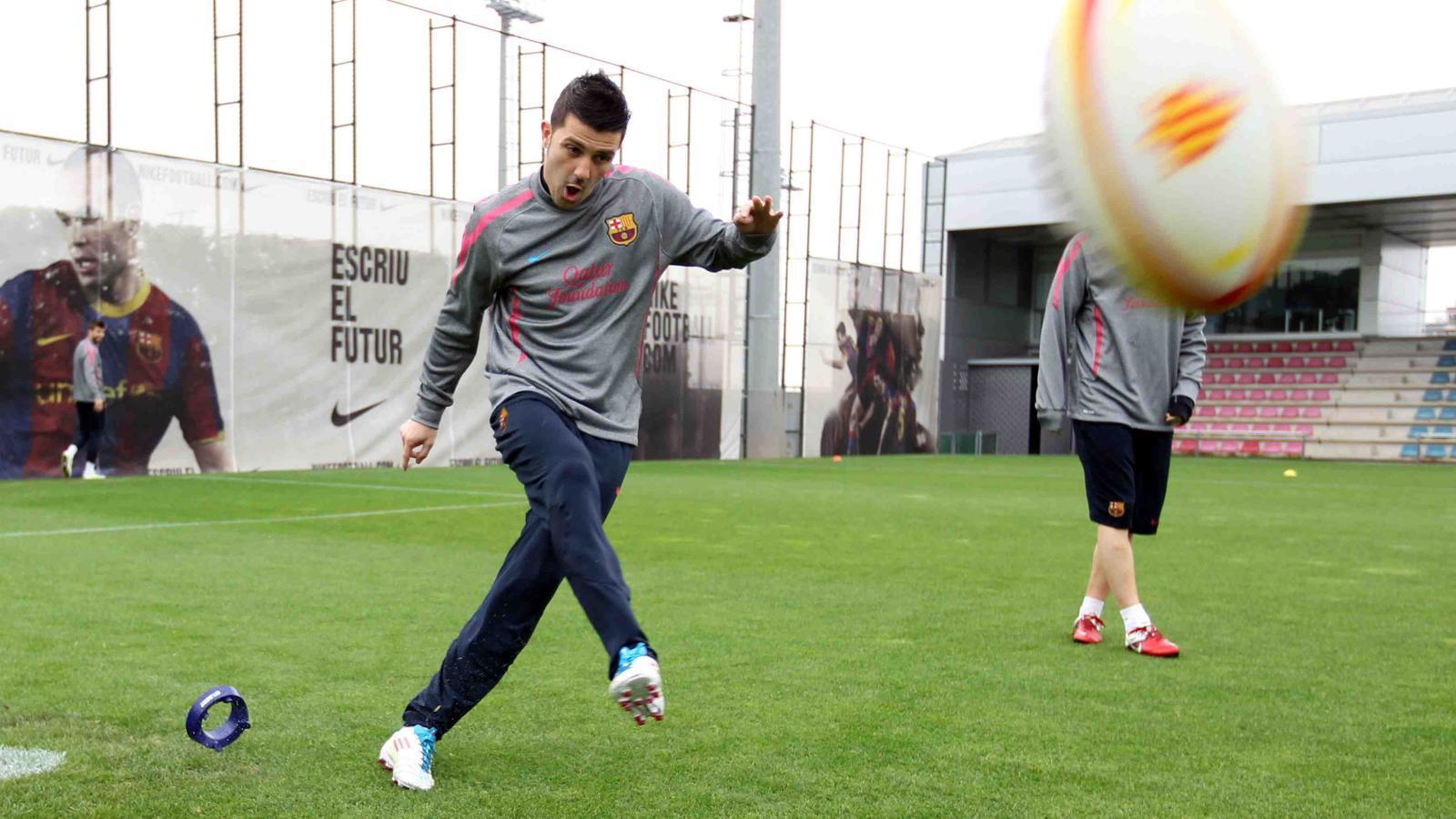 Els jugadors del Barça roden un spot per promocionar la festa del rugbi català