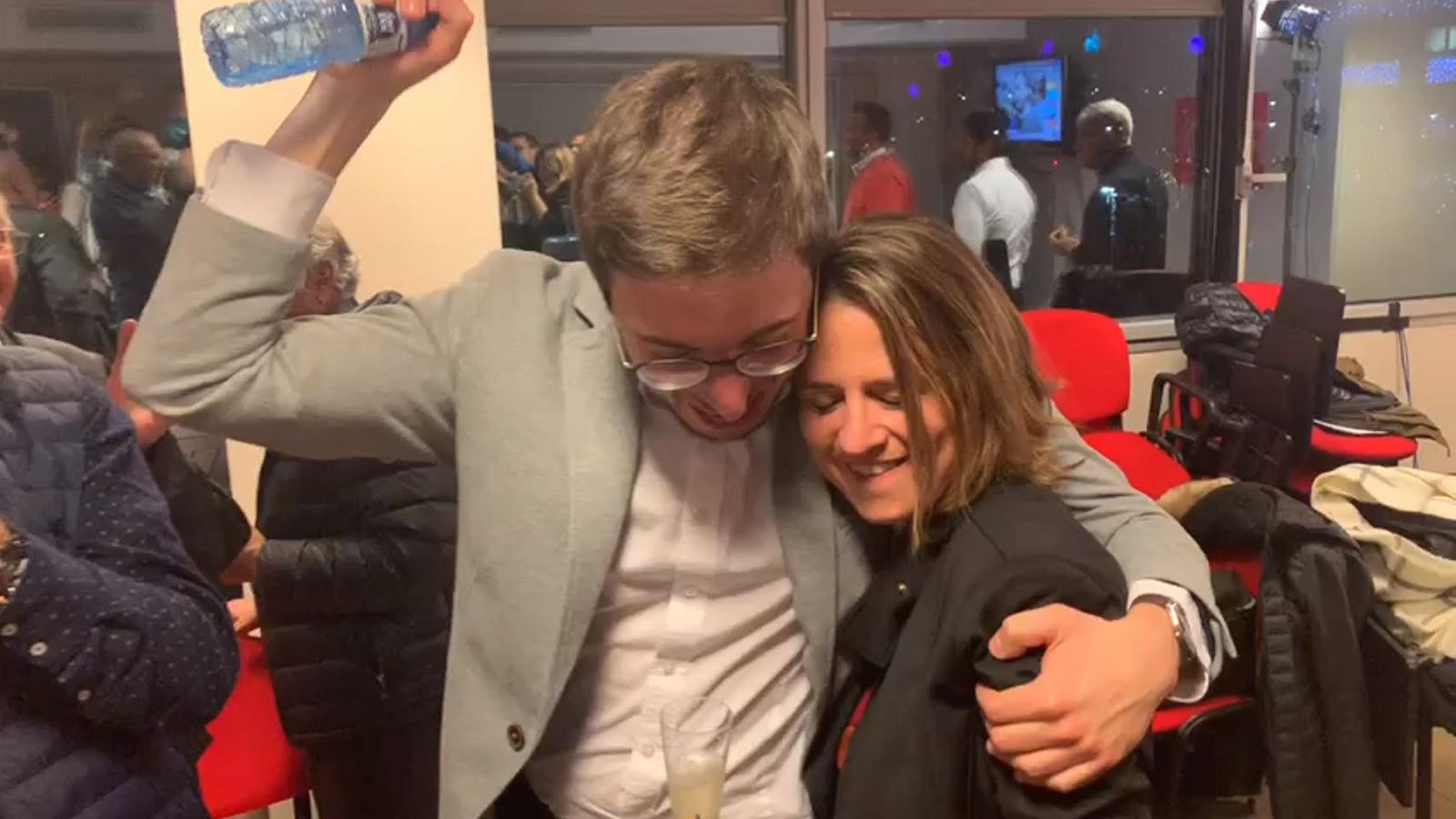 Gili celebra la victòria a Escaldes